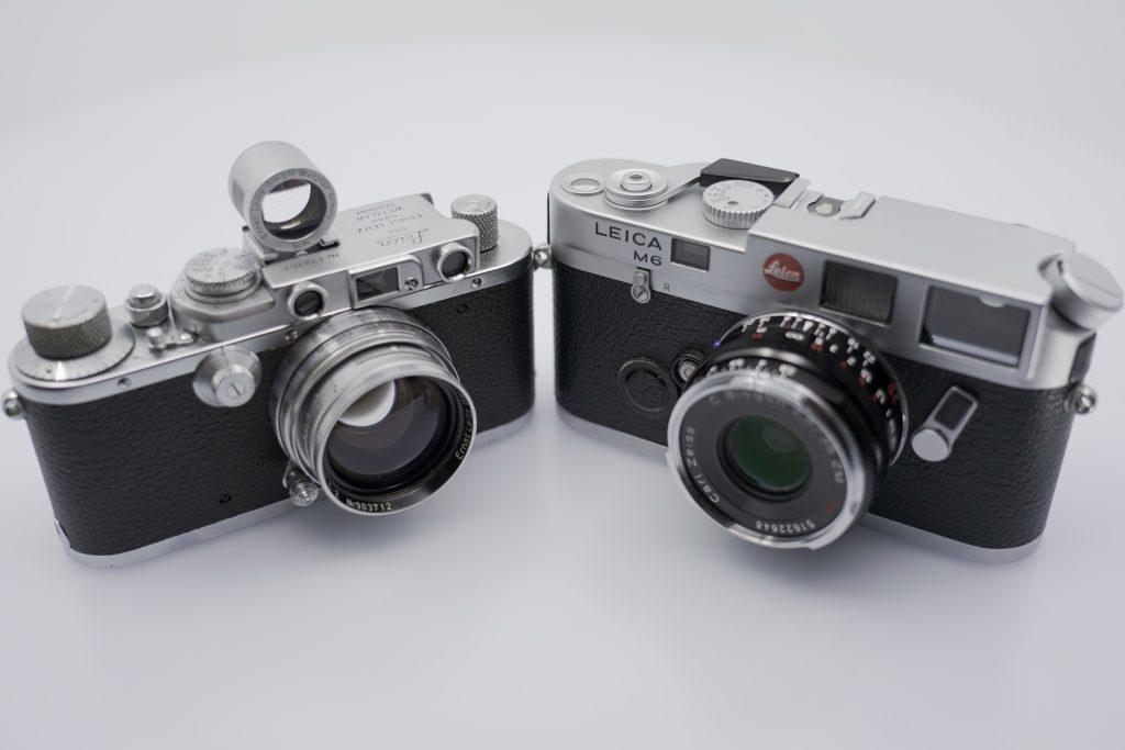Leica III and Leica M6