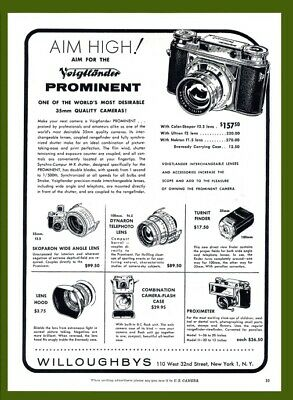 Advertisement for the Voigtlander Prominent